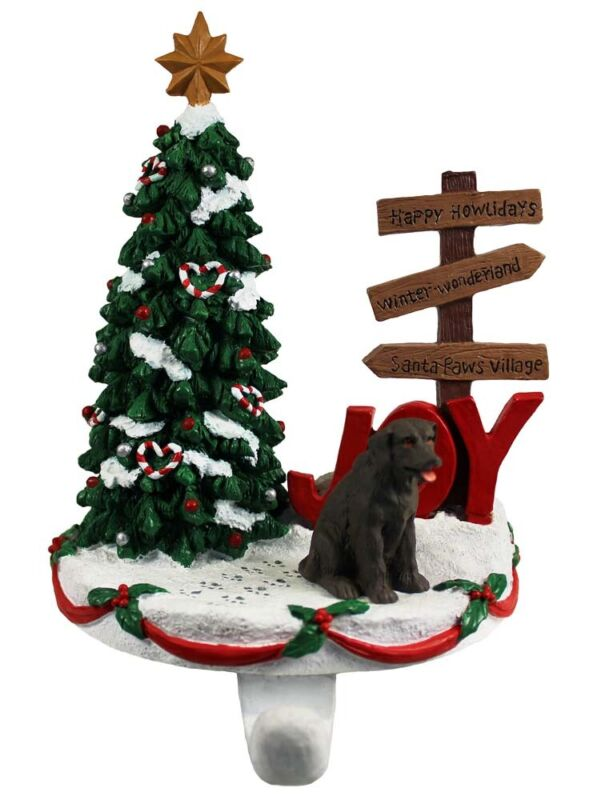 Chocolate Lab Stocking Holder Hanger