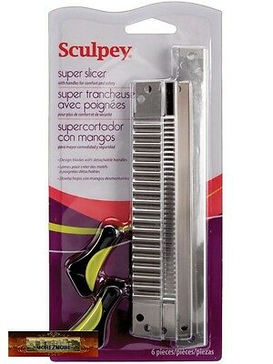 M00021 MOREZMORE Sculpey Super Slicer Set 4 Blades Polymer Clay Tool T20
