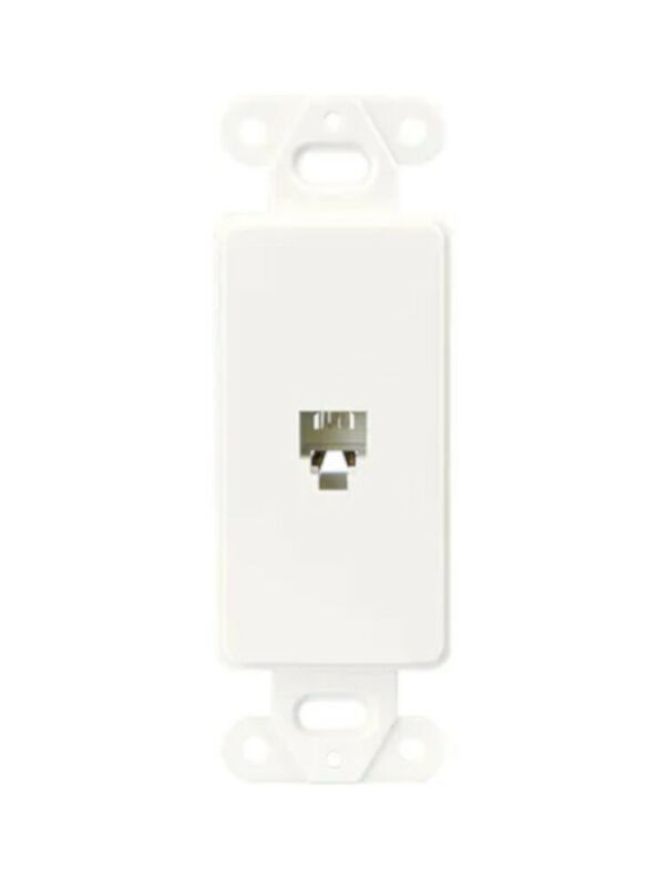 (Lot of 23) Cooper Wiring (3560-4W) Flush Mount Voice/Data Modular Jack - White