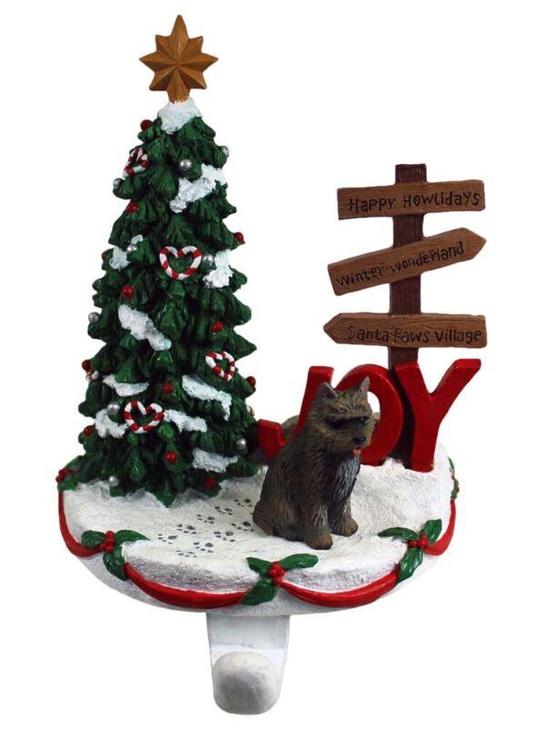 Cairn Terrier Stocking Holder Hanger Brindle