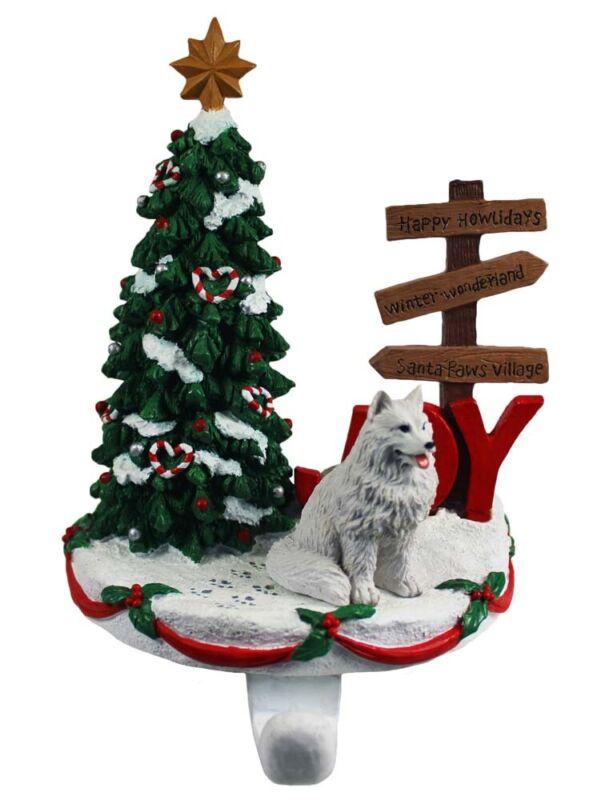 Samoyed Stocking Holder Hanger