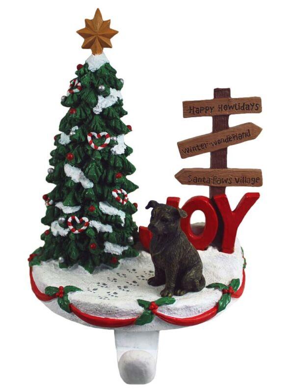 Staffordshire Terrier Stocking Holder Hanger Brindle