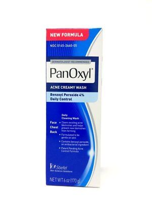 Panoxyl 4 Acne Foaming Face Wash 6oz -Expiration Date 10-2020- (Acne Wash)