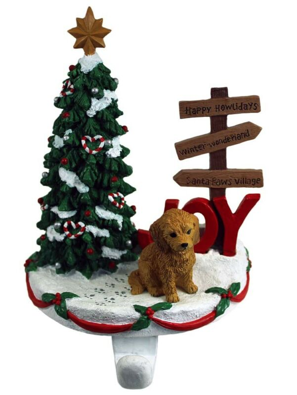 Goldendoodle Stocking Holder Hanger