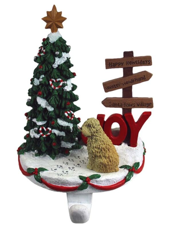 Soft Coated Wheaten Stocking Holder Hanger