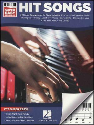Hit Songs Super Easy Songbook Keyboard Sheet Music Book E-Z EZ