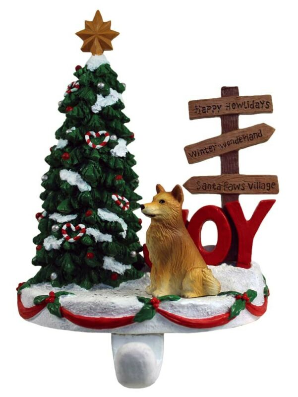 Finnish Spitz Stocking Holder Hanger