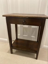 Genuine Original LOMBOK Solid Indonesian Teak Hardwood Side Table / Bedside Table / Bedside Cabinet
