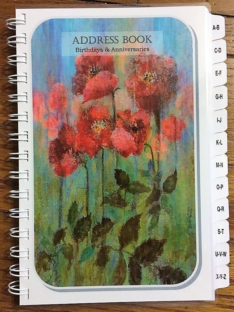 Купить LARGE PRINT Address Book with A-Z Tabs Birthday Anniversary Calendar Family Tree