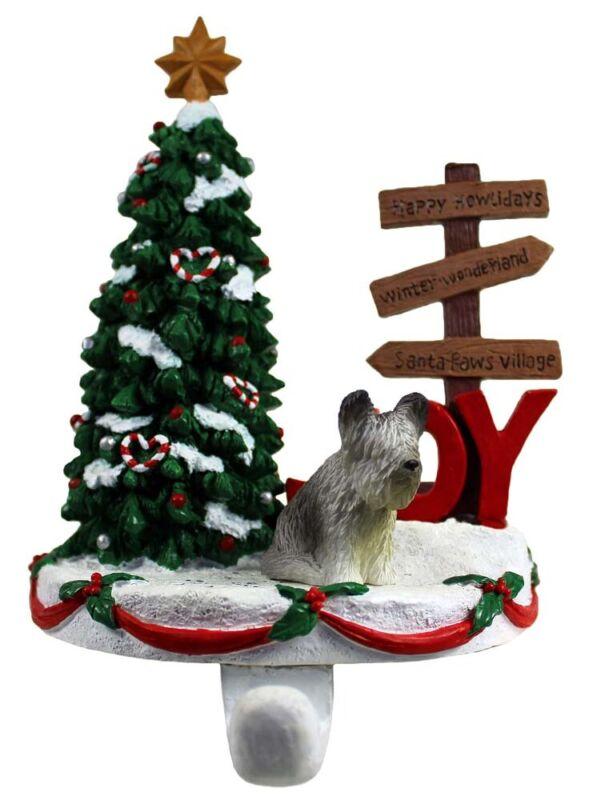 Skye Terrier Stocking Holder Hanger