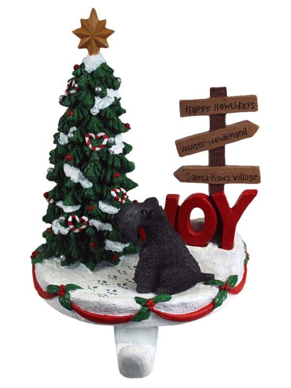 Kerry Blue Terrier Stocking Holder Hanger