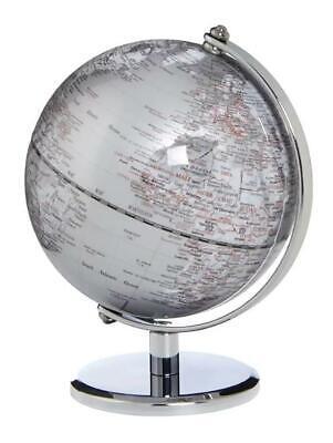 Emform Centerville Mini Globe Country Name in English Gagarin Silver 17 x 13cm