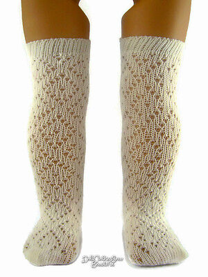 2 Pair Included! Ivory Pattern Socks made for 18