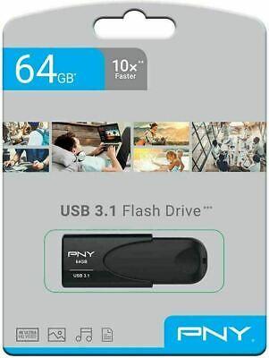 64GB Memoria USB PNY HD USB 3.1 Flash Pen Drive Fotos Música...