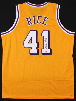 fdf3a92708d Glen Rice Signed Los Angeles Lakers Yellow Jersey (Fiterman Sports Hologram)