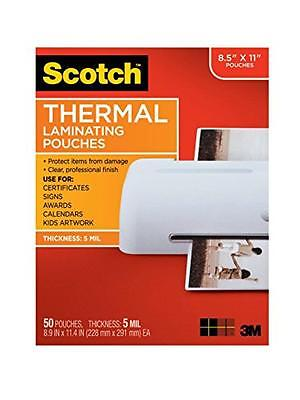 Scotch Thermal Laminating Pouches 8.9 X 11.4-inches 5 Mil Thick 50-pack Tp58