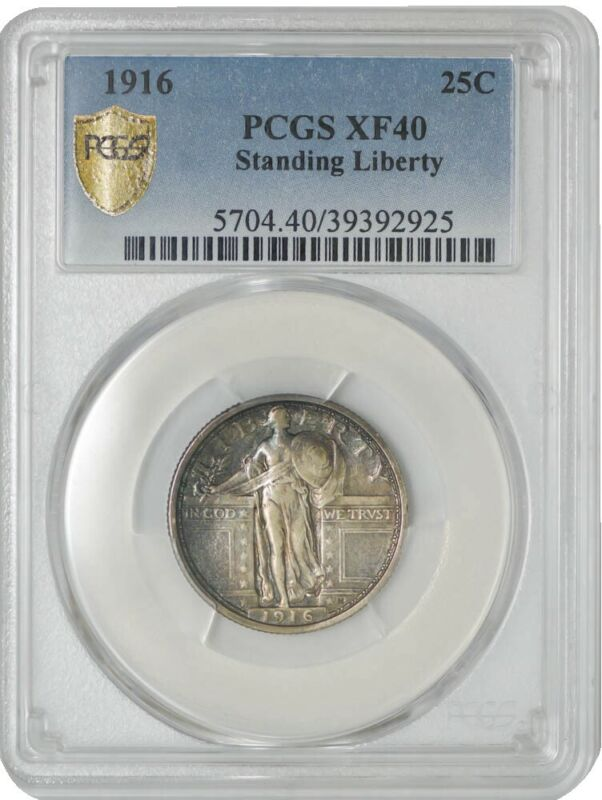 1916 Standing Liberty Quarter 25c XF40 PCGS Secure 942953-5