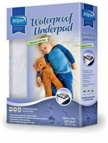 INSPIRE WATERPROOF UNDERPAD 39 X 54 FITS ANY BED 1 SINGLE PACKAGE !