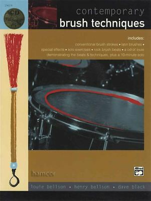 Contemporary Brush Techniques Drum Music Book/CD by Louie Bellson