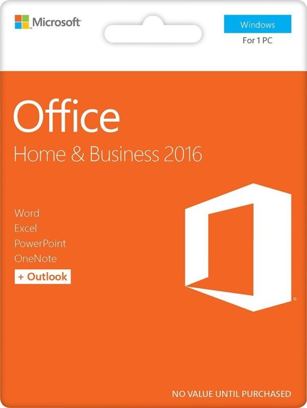 Office Home & Business 2016, 1 PC (Product Key Card) Windows T5D-02781