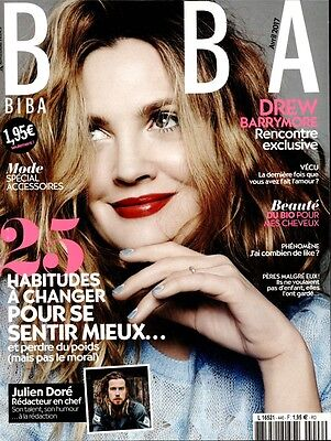 french magazine BIBA N°446 Drew Barrymore on cover 2017 new