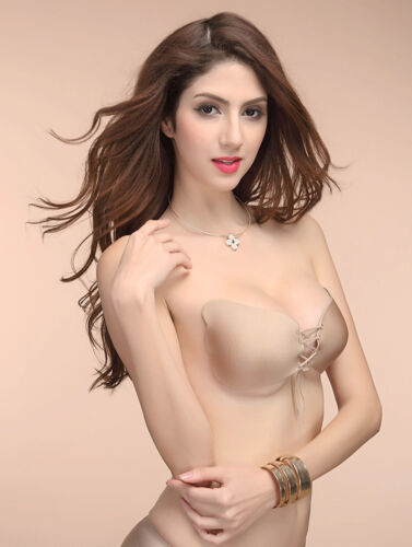 Womens Strapless Invisible Bra Backless Self-Adhesive Push Up Wings Sticky Bras