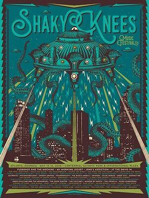 Shaky Knees Fest Poster 5/13-15/2016 Olympic Park Atlanta GA Signed Artist Ed.