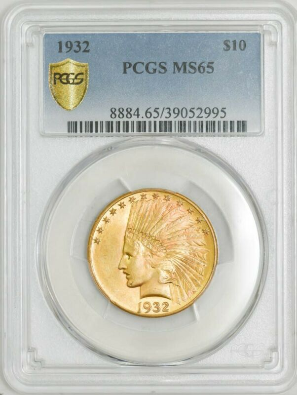 1932 $10 Gold Indian MS65 Secure Plus PCGS 943012-24
