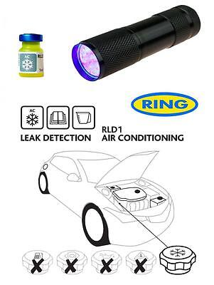 UV Dye & Torch Kit Ultra Violet Leak Detection Dye For Car Air Conditioning RLD1