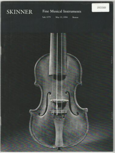 Skinner Fine Musical Instruments Auction Catalog: May 15, 1994