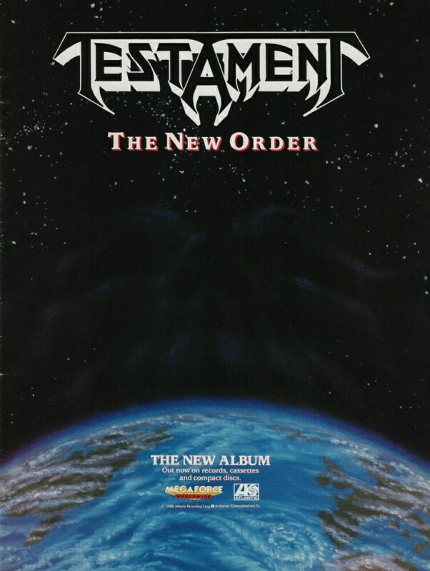 Testament The New Order 1988 8x11 Promo Poster Ad