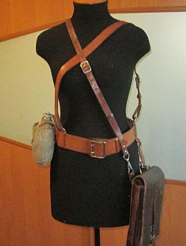 Портупея ремень кожаный офицерский,военный планшет и фляга.