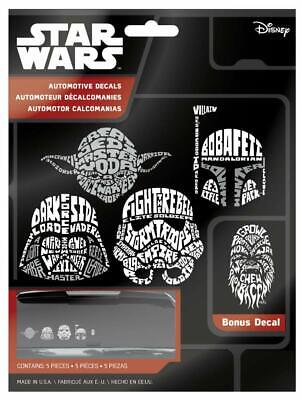 Chroma Graphics Star Wars Wordle Automotive Decals - 5 Pieces (45041)