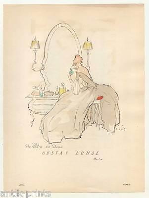 Art déco-Mode-Parfum-Möbel - Lithographie aus Styl 1922