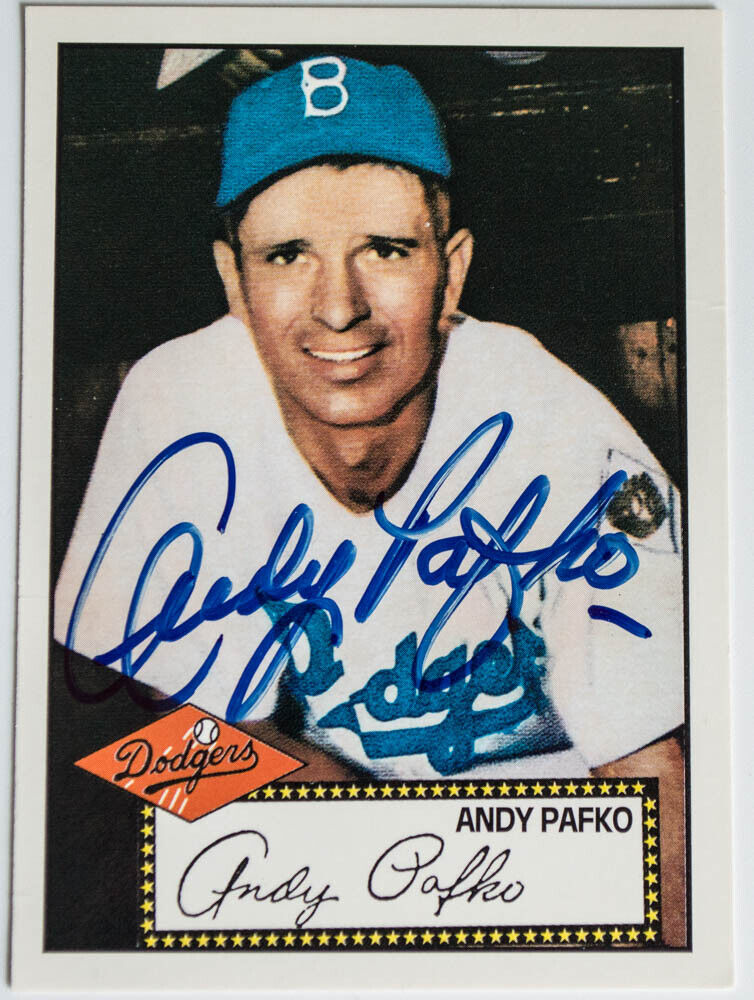 Andy Pafko autograph!!
