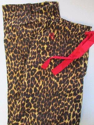 - NWT LAUREN Ralph Lauren Leopard Print Pajama Lounge Pants Women Size S