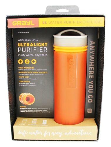 Grayl Ultra Light Water Purifier + Filter - Orange