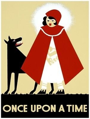 9542.Once upon a time.little red riding hood.POSTER.decor Home Office