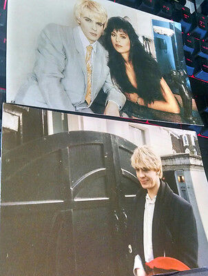 Duran Duran Nick Rhodes - Pin/Button from 1985 and two photo prints