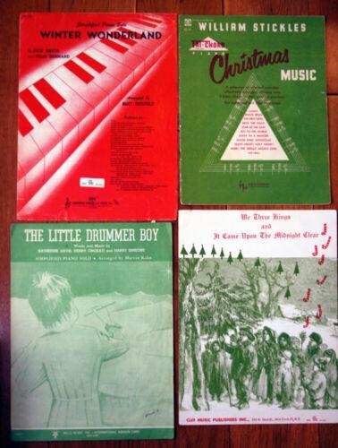 Vintage Christmas PIANO Sheet Music Little Drummer Boy, Winter Wonderland