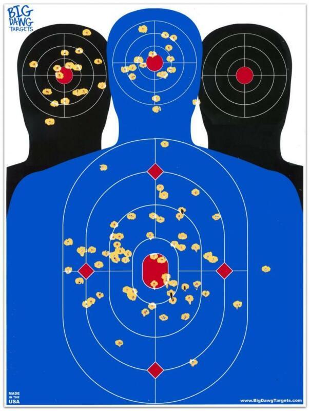Big Dawg Targets - 18 X 24 Inch Triple Silhouette Reactive Splatter Target