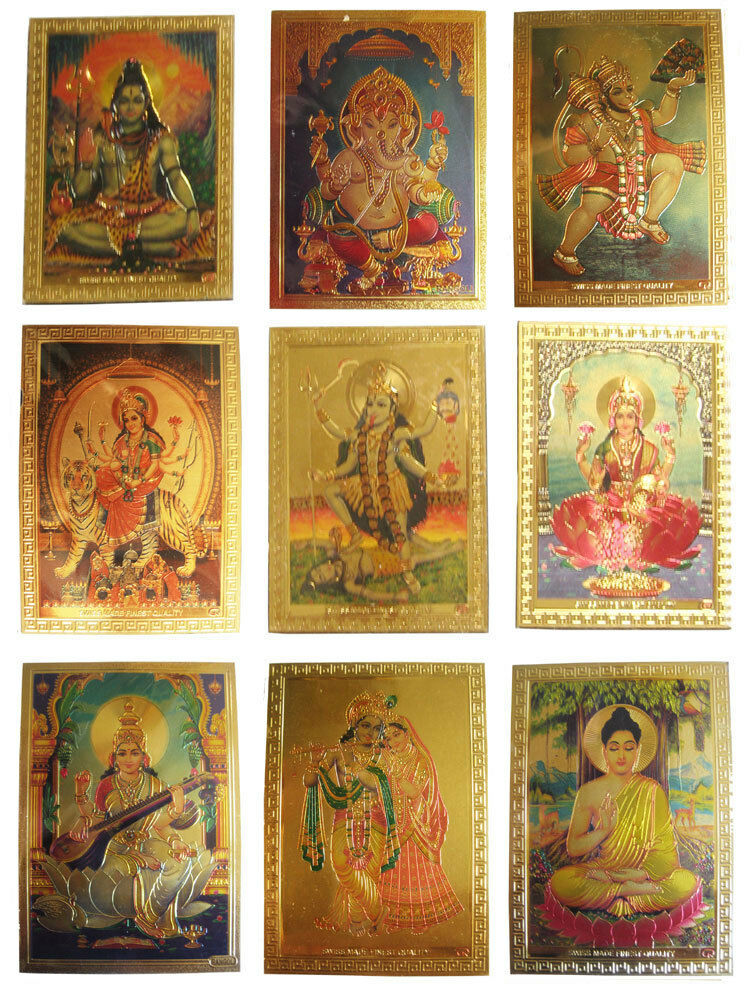 MAGNET Shiva Ganesh Durga Lakshmi Saraswati Kali Krishna KÜHLSCHRANKMAGNETE