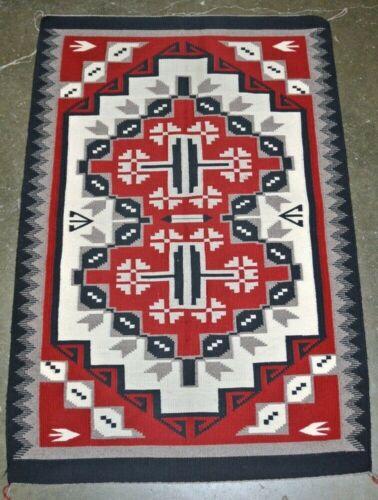 """Fine Navajo Rug  Ganado / Klagatoh - Snowflake c.1990    51"""" x 35"""""""