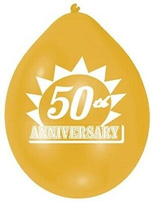 20 X Dorado 50th Aniversario Bodas Globos Rellenos Aire Oferta Liquidación