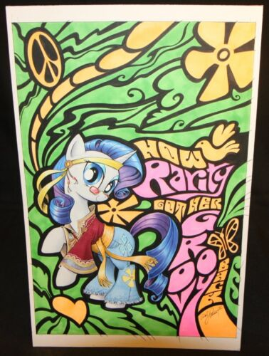 My Little Pony Rarity Micro-Comic Color Cover - 2013 art by Andy Price