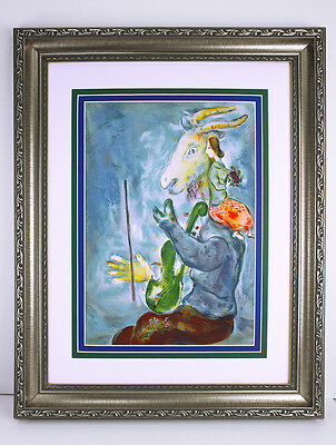 Lovely MARC CHAGALL ORIGINAL 1938 Color Lithograph SPRING Framed HIGH VALUE COA