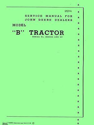 John Deere B Bn Bnh Bw Bwh Tractor Service Manual 2004
