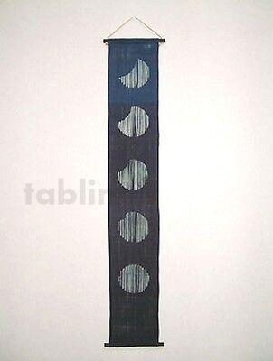 Kyoto tapestry SB Japanese batik  lunar phase vittate indigo 19 x 120cm
