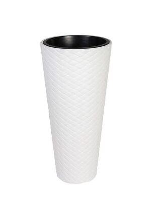XXL Pflanzkübel Pflanztopf Blumentopf Blumenkübel Kunststoff ca. 80 cm Weiß