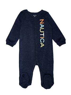 Nautica Infant Boys Heather Navy Blue Coverall Size 0/3M 3/6M 6/9M $42